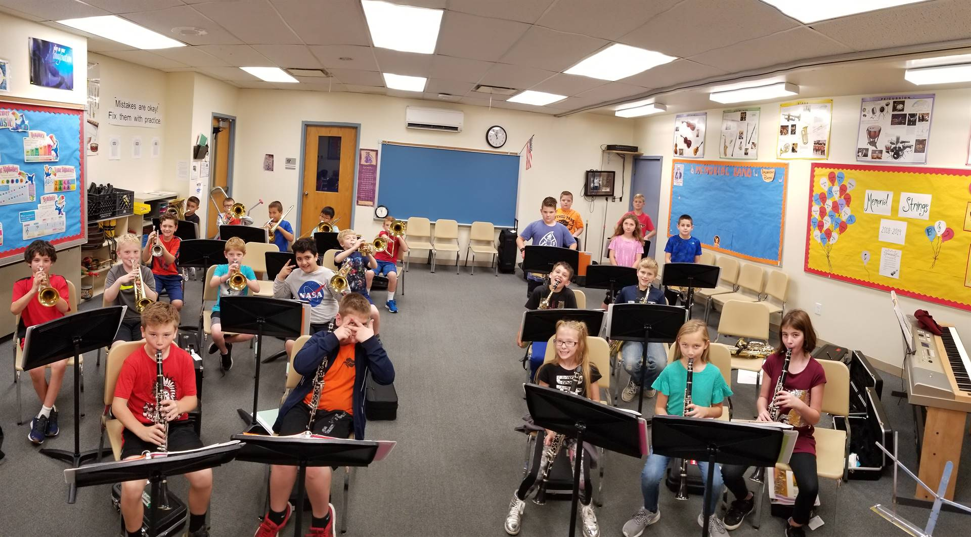 Fulfilled Grant - Memorial Elementary Music Stands
